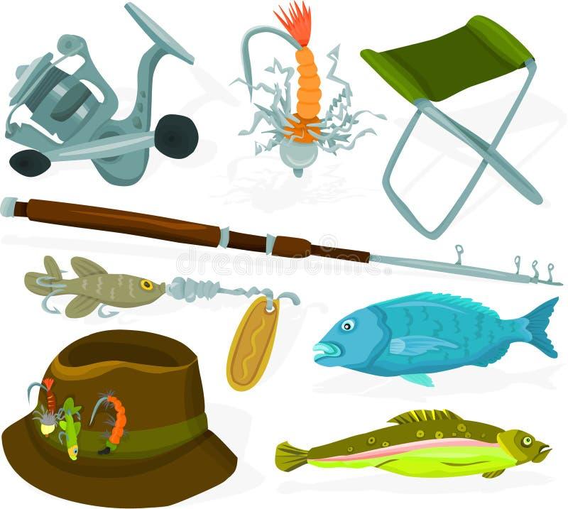 De reeks van de visser stock illustratie