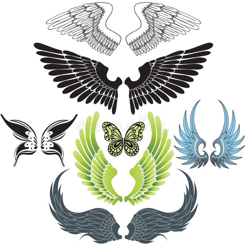 De reeks van de vleugel royalty-vrije stock foto