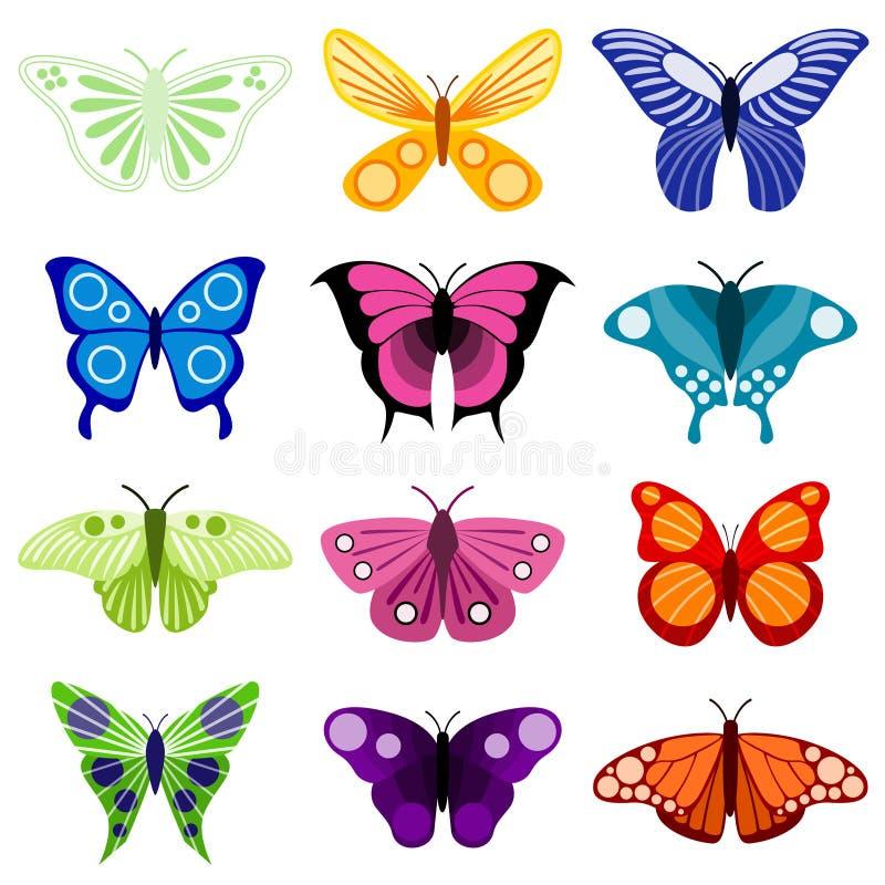 De reeks van de vlinder vector illustratie