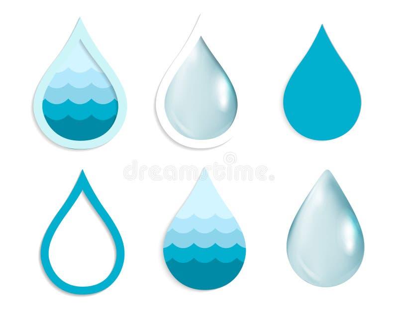 De Reeks van de waterdaling vector illustratie