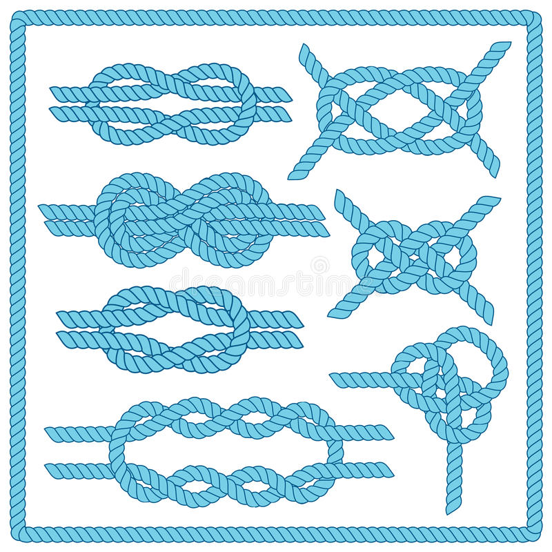 De reeks van de zeemansknoop royalty-vrije illustratie