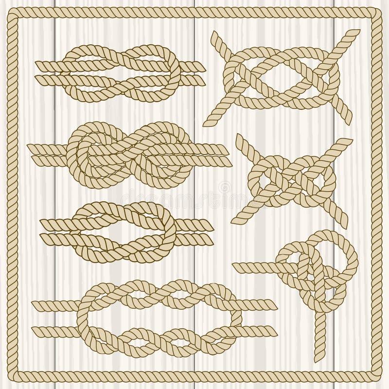 De reeks van de zeemansknoop vector illustratie