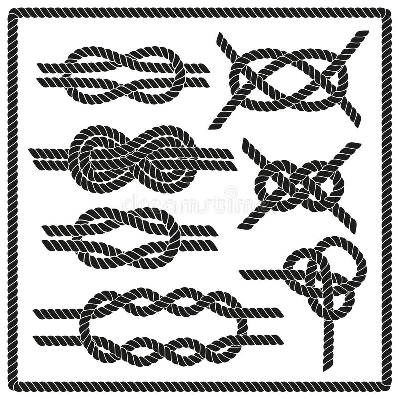 De reeks van de zeemansknoop stock illustratie