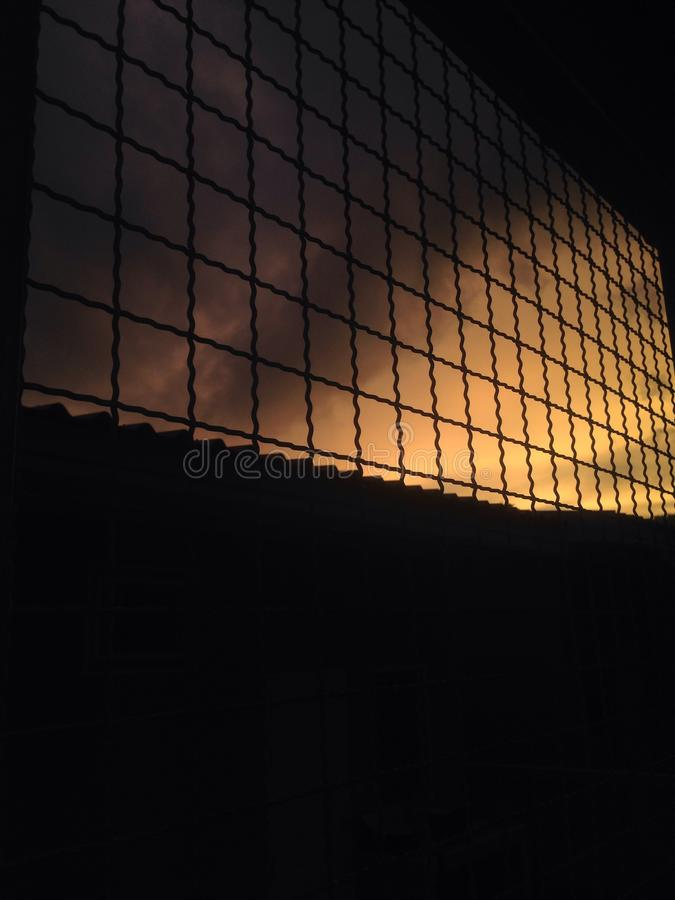 De reeks van de zon stock foto