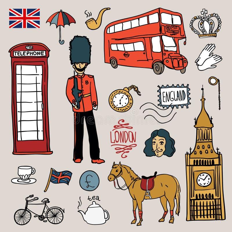 De reeks van Engeland stock illustratie