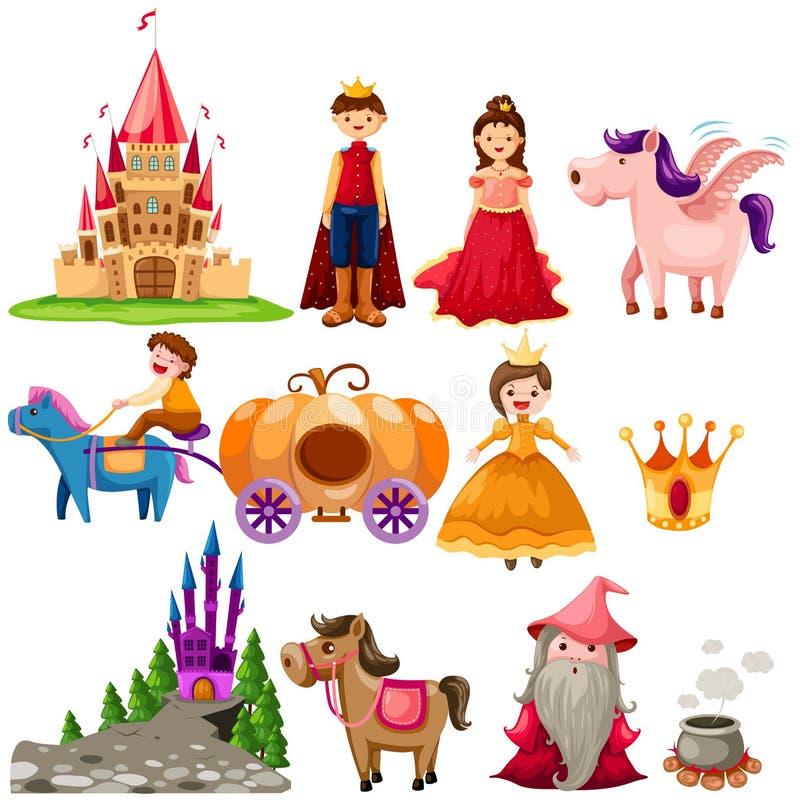 De reeks van Fairytale royalty-vrije illustratie