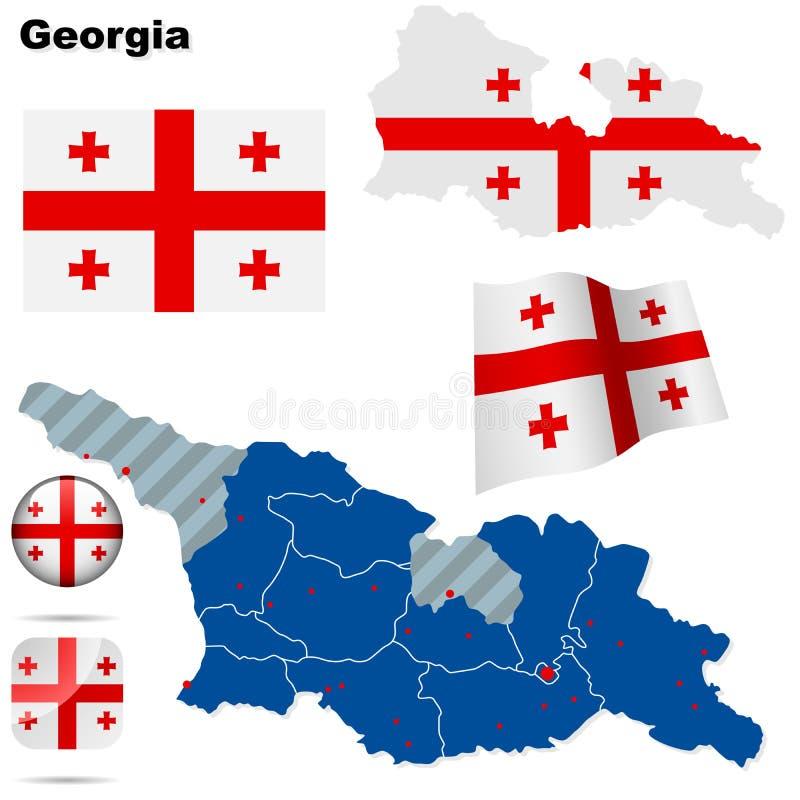 De reeks van Georgië. royalty-vrije illustratie