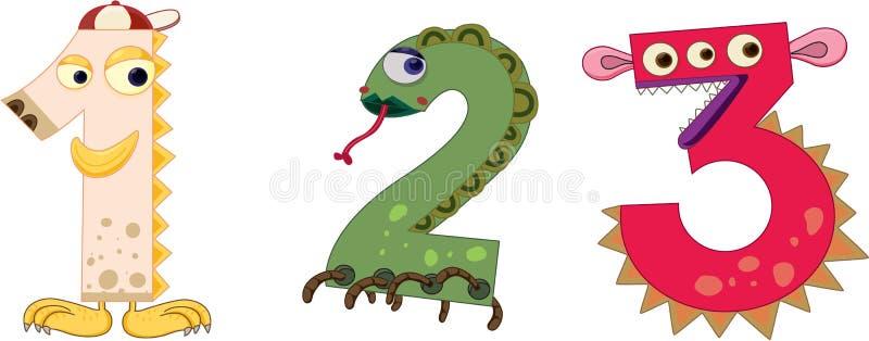 De reeks van het aantal (deel 1) vector illustratie