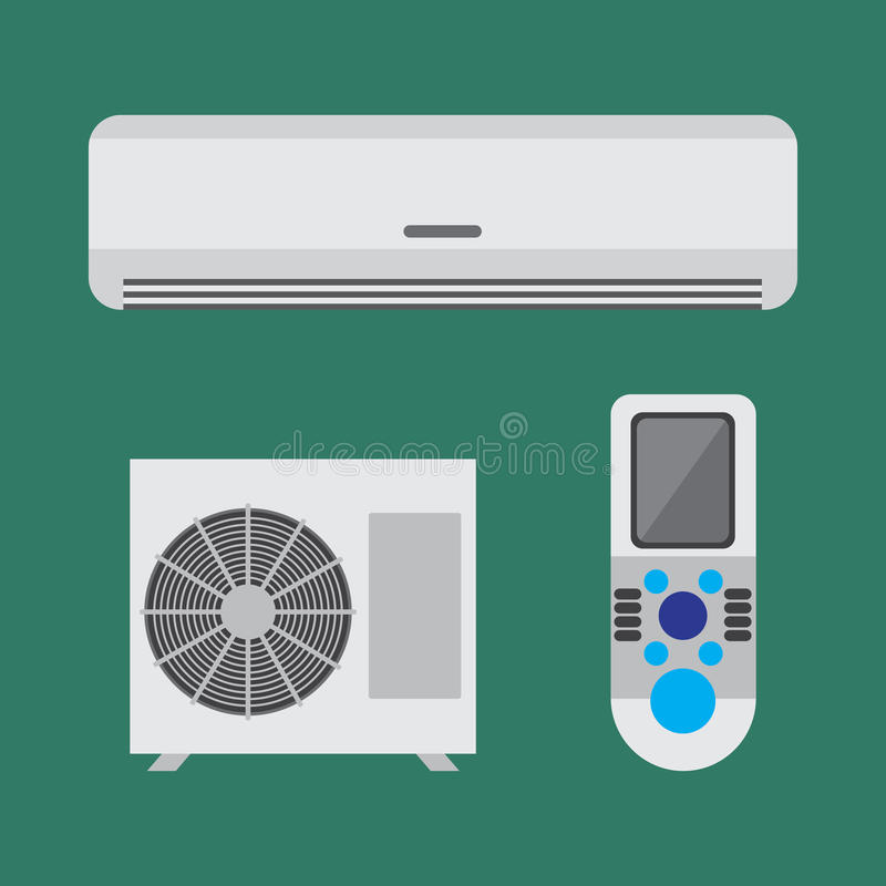De reeks van het airconditionermateriaal Vector vlakke illustratie royalty-vrije illustratie
