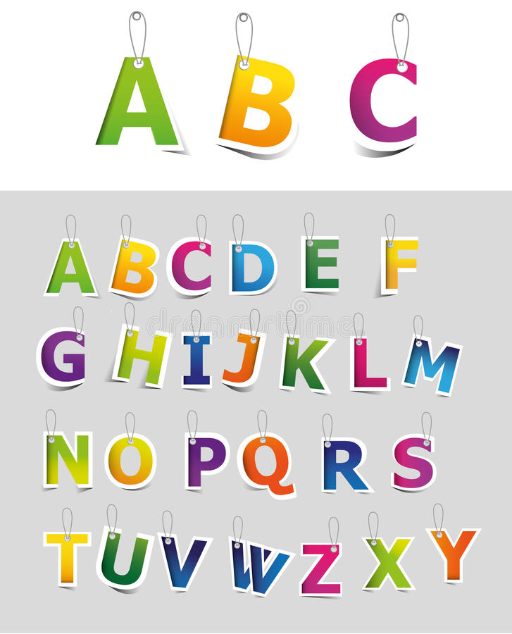 De reeks van het alfabet vector illustratie