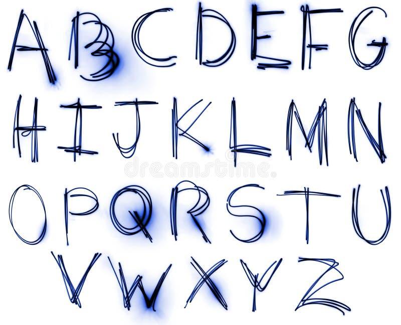 De reeks van het Alfabet van het neon royalty-vrije stock afbeeldingen