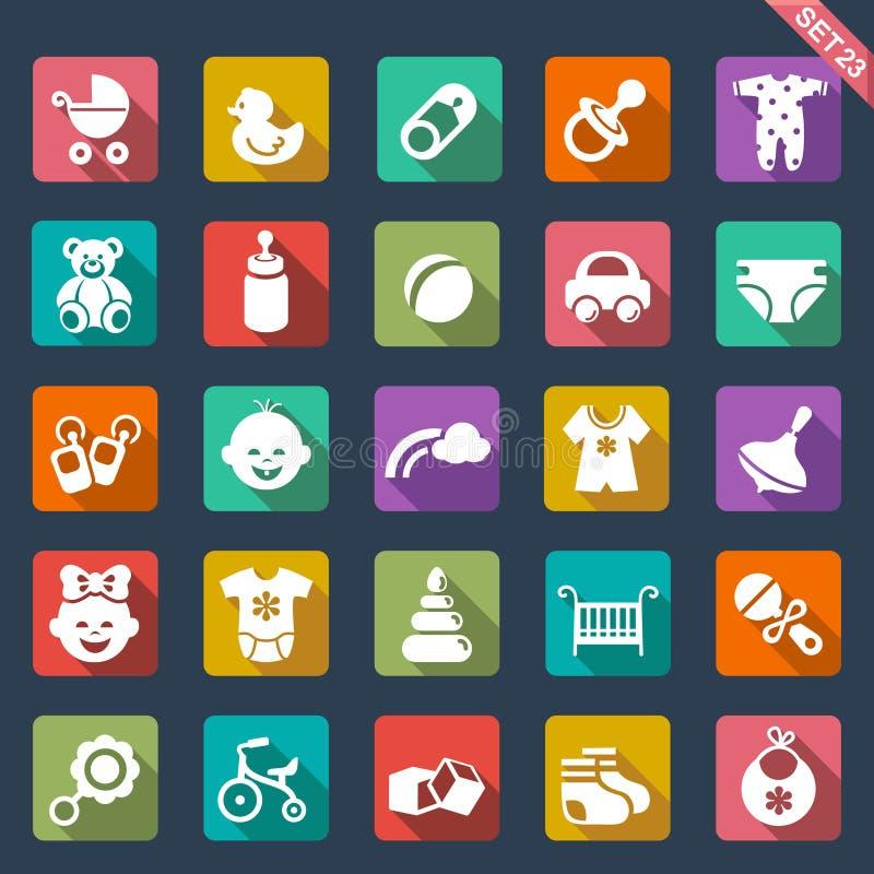 De reeks van het babypictogram stock illustratie