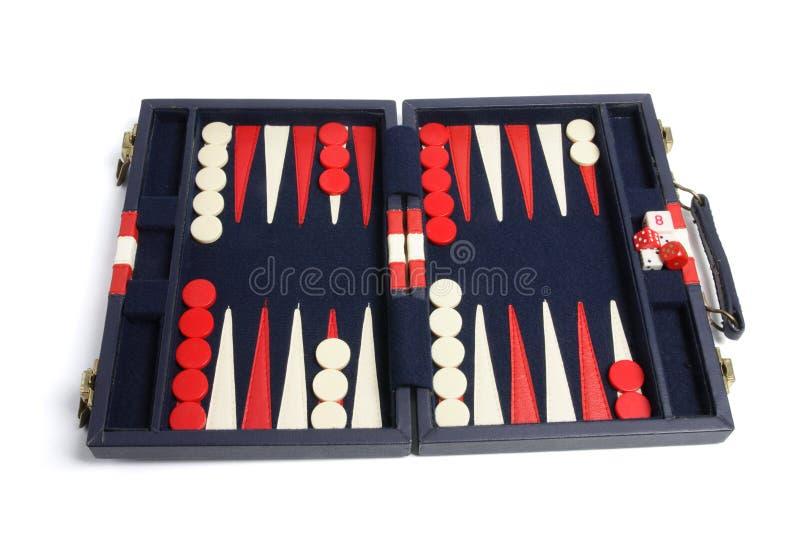 De Reeks van het backgammon stock foto