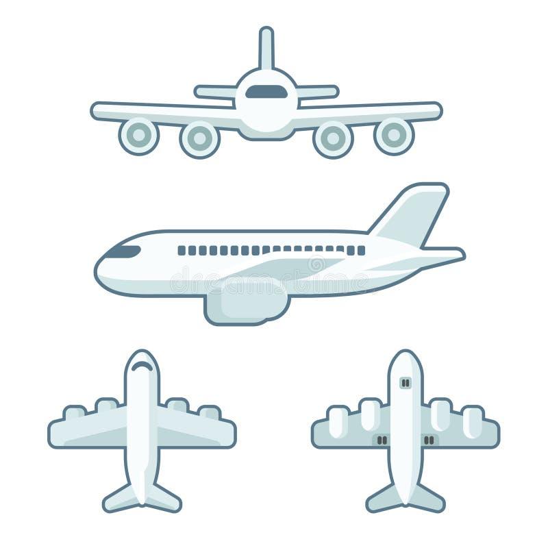 De reeks van het beeldverhaalvliegtuig stock illustratie