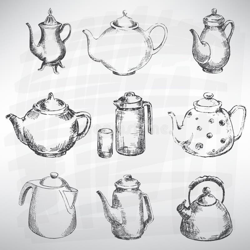 De reeks van het bestek stock illustratie