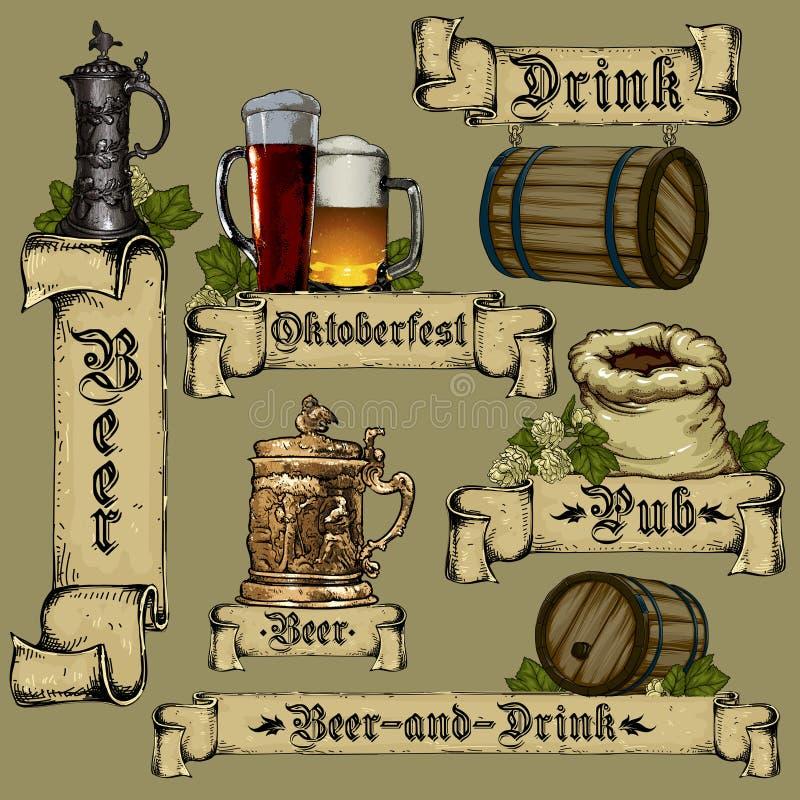 De Reeks van het bier vector illustratie