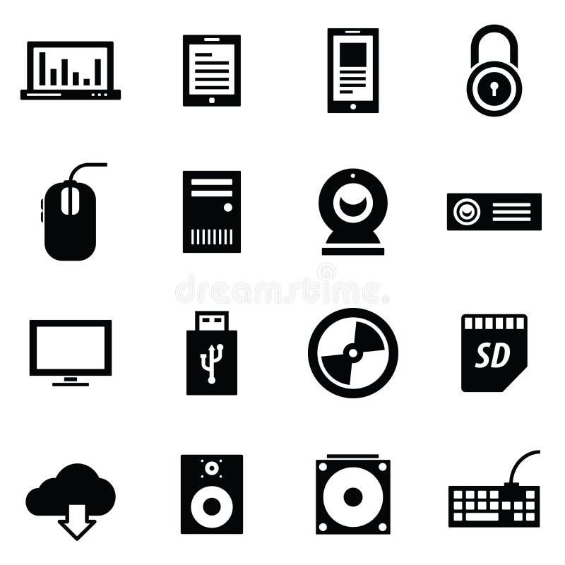 De reeks van het de reekspictogram van Simplus stock illustratie
