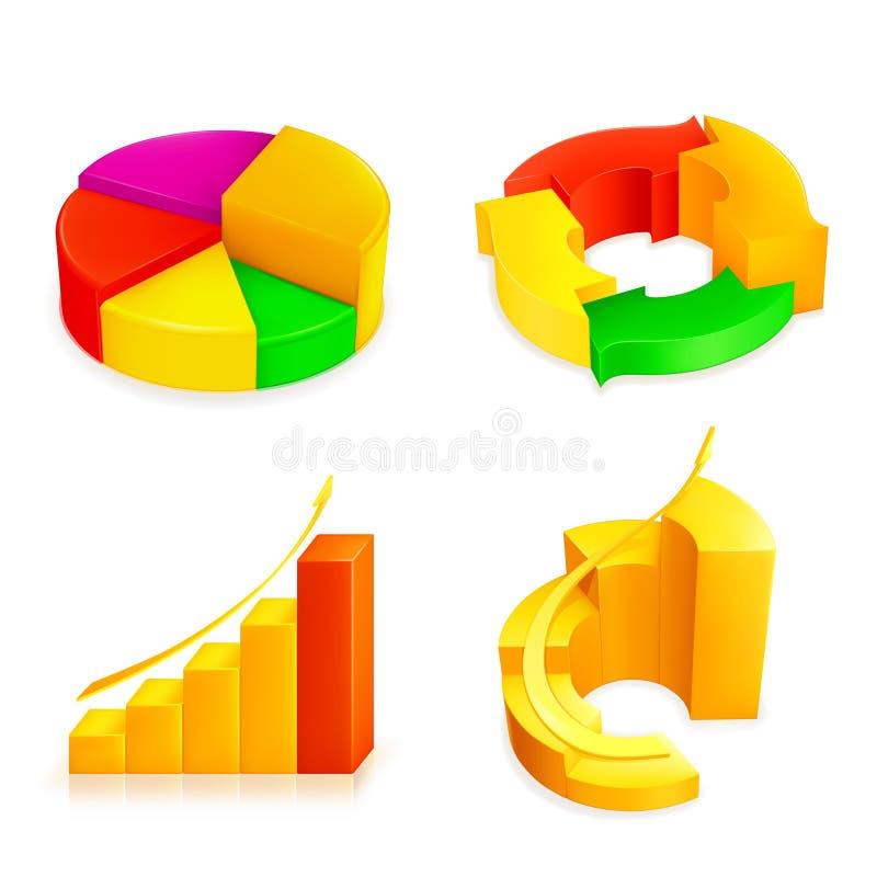 De reeks van het diagram stock illustratie
