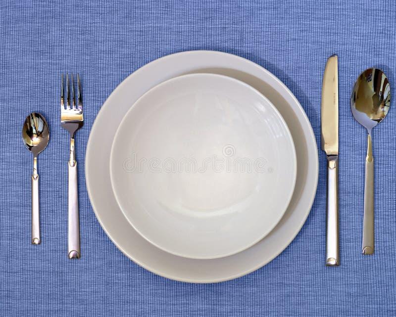 De Reeks van het diner stock foto