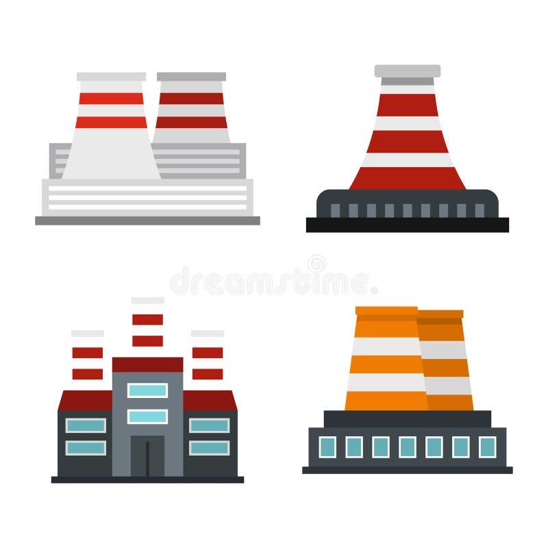 Download De Reeks Van Het Elektrische Centralepictogram, Vlakke Stijl Vector Illustratie - Illustratie bestaande uit elektrisch, ongeval: 107707461