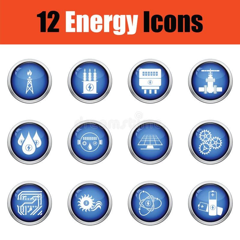 De reeks van het energiepictogram vector illustratie