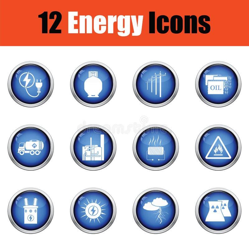 De reeks van het energiepictogram stock illustratie