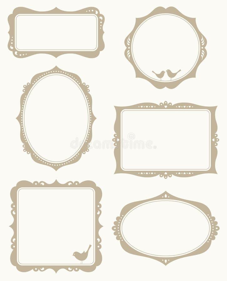 De Reeks van het frame royalty-vrije illustratie