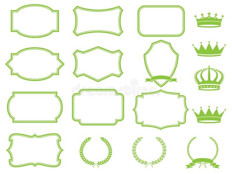 De reeks van het frame vector illustratie