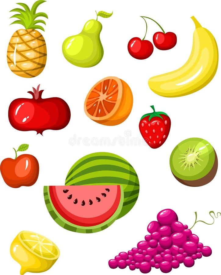 De reeks van het fruit vector illustratie