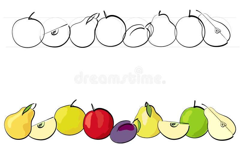 De Reeks Van Het Fruit Royalty-vrije Stock Afbeeldingen