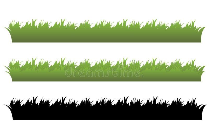De reeks van het gras stock illustratie