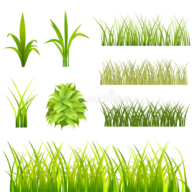 De reeks van het gras