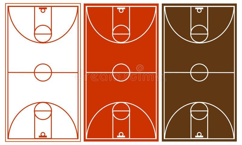 De Reeks van het Hof van het basketbal vector illustratie