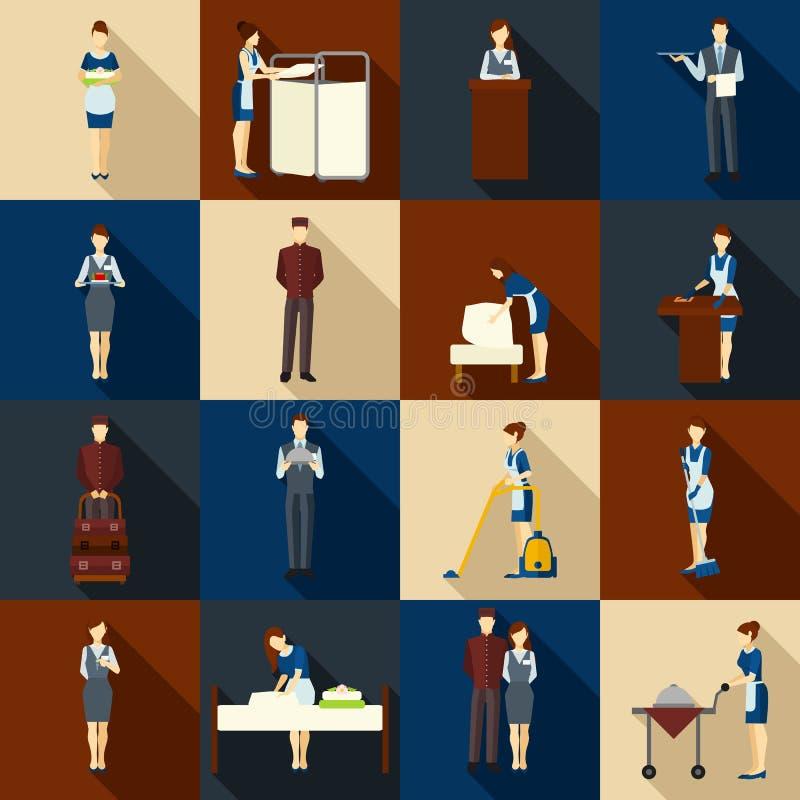 De Reeks van het hotelpersoneel royalty-vrije illustratie