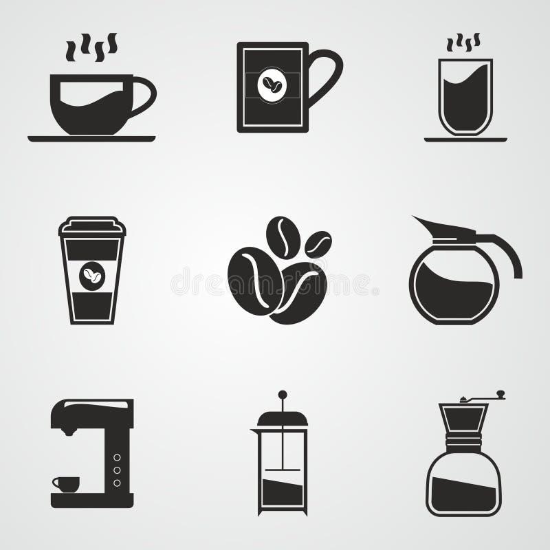 Download De Reeks Van Het Koffiepictogram Vector Illustratie - Illustratie bestaande uit drank, voedsel: 54084153