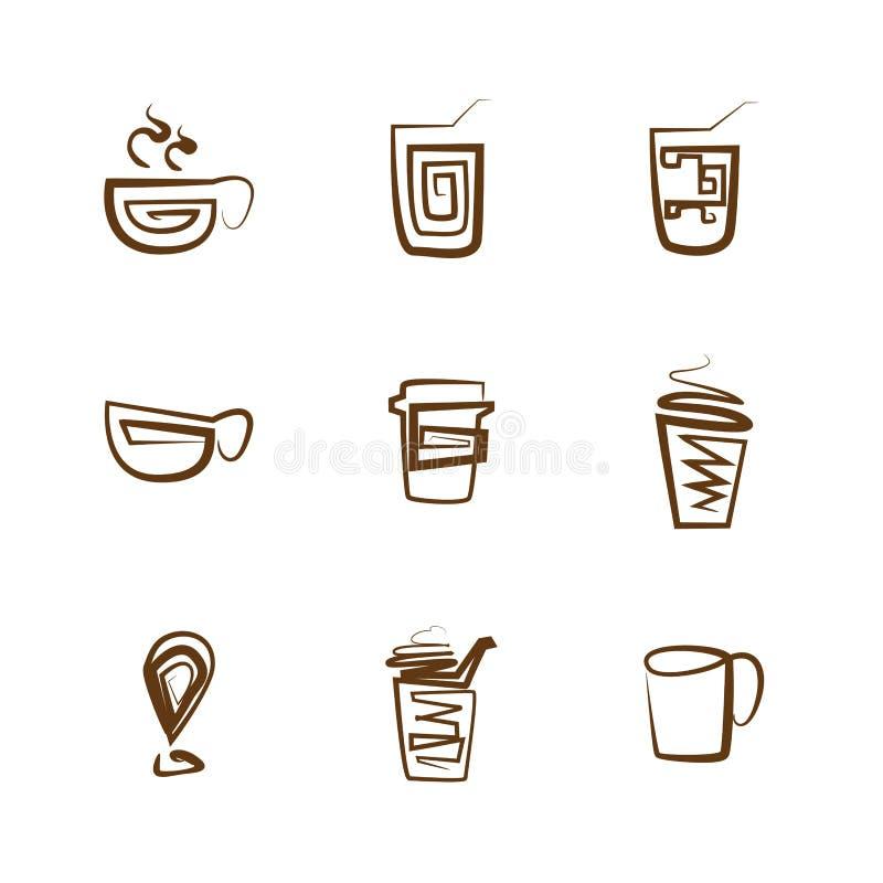 De reeks van het koffiepictogram vector illustratie