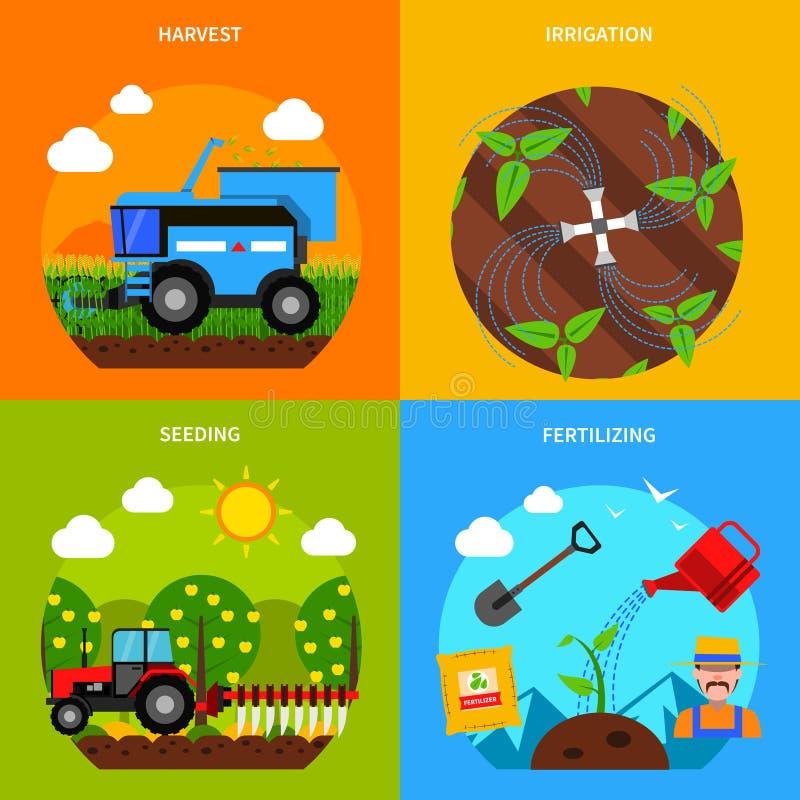 De Reeks van het landbouwconcept stock illustratie