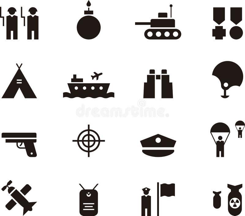 De reeks van het legerpictogram royalty-vrije illustratie