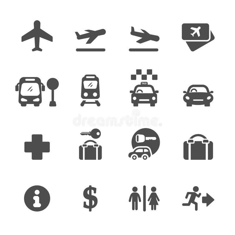 De reeks van het luchthavenpictogram, vectoreps10 vector illustratie