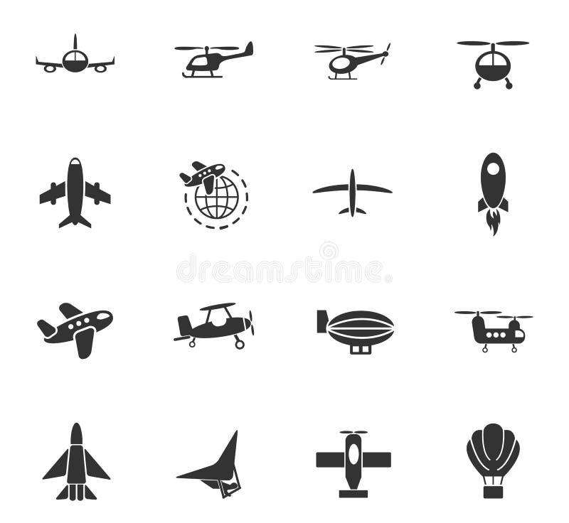 De reeks van het luchtvervoerpictogram royalty-vrije illustratie