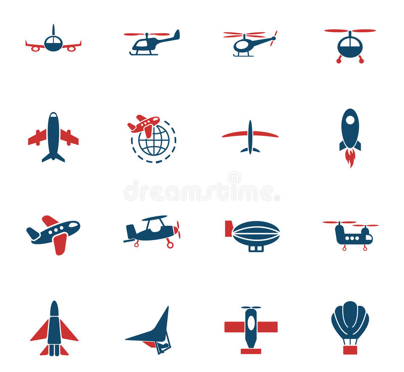 De reeks van het luchtvervoerpictogram vector illustratie