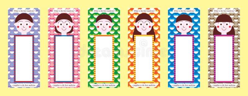 De reeks van de het meisjesreferentie van de Kokeshijongen royalty-vrije illustratie