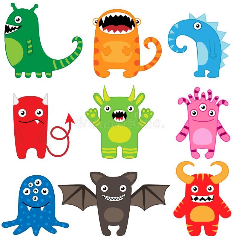 De reeks van het monster stock illustratie
