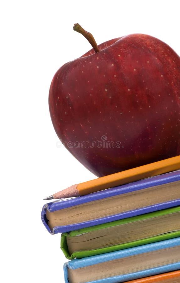De Reeks van het onderwijs (Appel op boekenhoek) royalty-vrije stock afbeeldingen