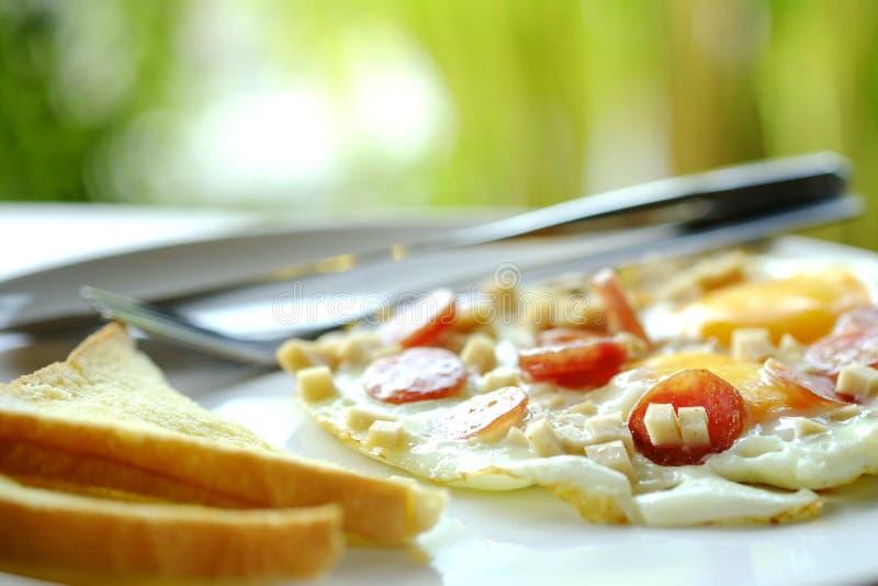 De reeks van het ontbijt stock foto