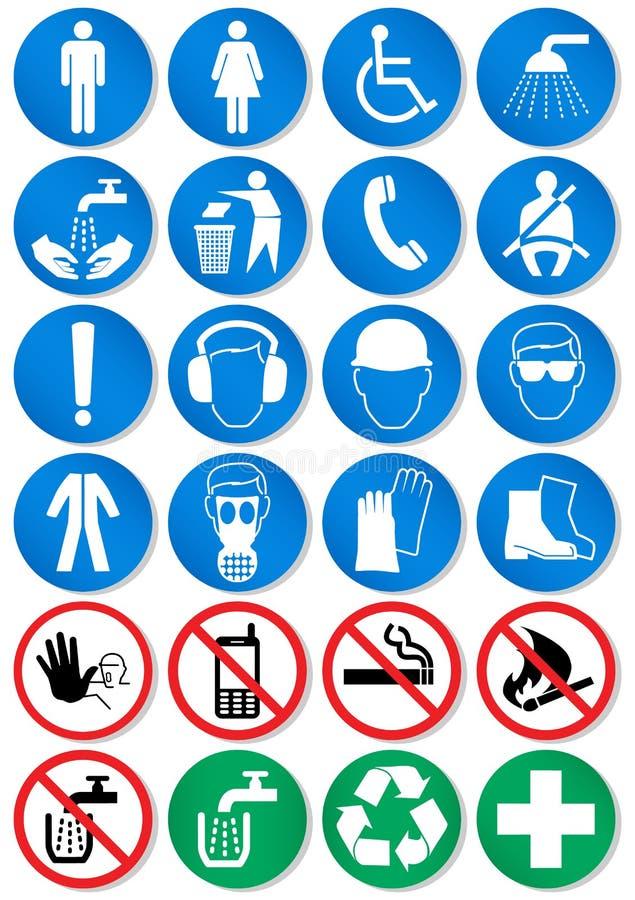De reeks van het ontwerp verschillende communicatie tekens. stock illustratie