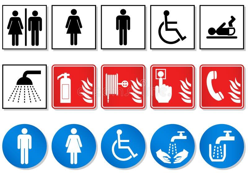 De reeks van het ontwerp verschillende communicatie tekens. royalty-vrije illustratie