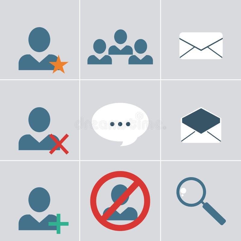 De reeks van het organisatorpictogram stock illustratie
