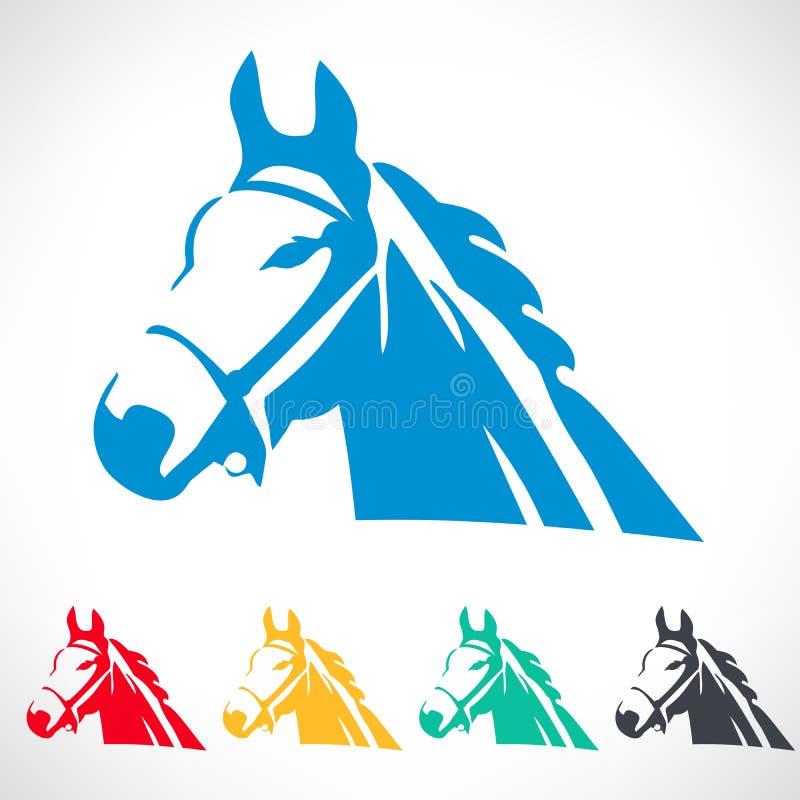 De reeks van het paardsymbool stock illustratie