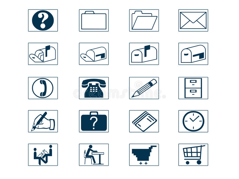 De Reeks van het pictogram stock afbeelding